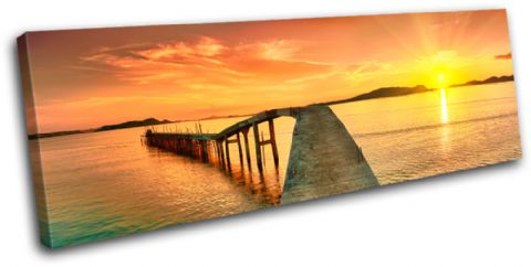 Sunrise Pier Sunset Seascape - 13-0297(00B)-SG31-LO